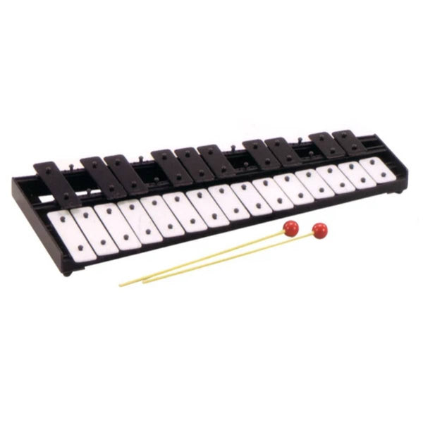 Allegro Student Percussion Kit - 25 Note Glockenspiel w/Gig Bag, Practice Pad, Mallets and Sticks