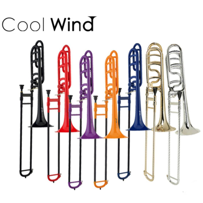 COOL WIND TROMBONE, Bb TENOR TROMBONE, ABS PLASTIC - All Colours Available!