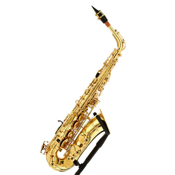 Woodchester WAS-800 Alto Saxophone  High F#, Gold Lacquer + A1 Model Back Pack Case and Bonus Neotec Strap