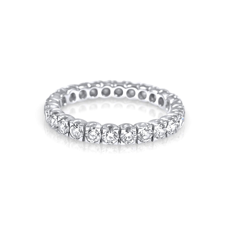 Eternity Diamond Ring - Available in 18K white, rose & yellow gold. Wear it alone or stacked. 1.80mm band: Carat Weight: ~0.80 carats depending on ring size.