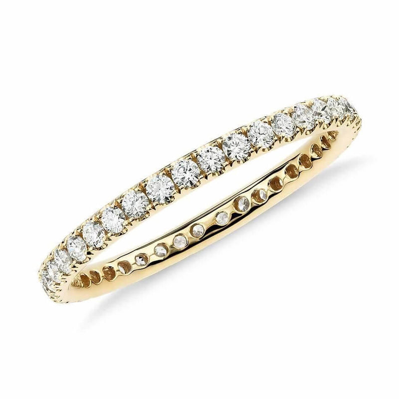 Eternity wedding Diamond Ring - Available in 18K white, rose & yellow gold. Wear it alone or with your solitaire. 1.30mm band: Carat Weight: ~0.45 carats depending on ring size.