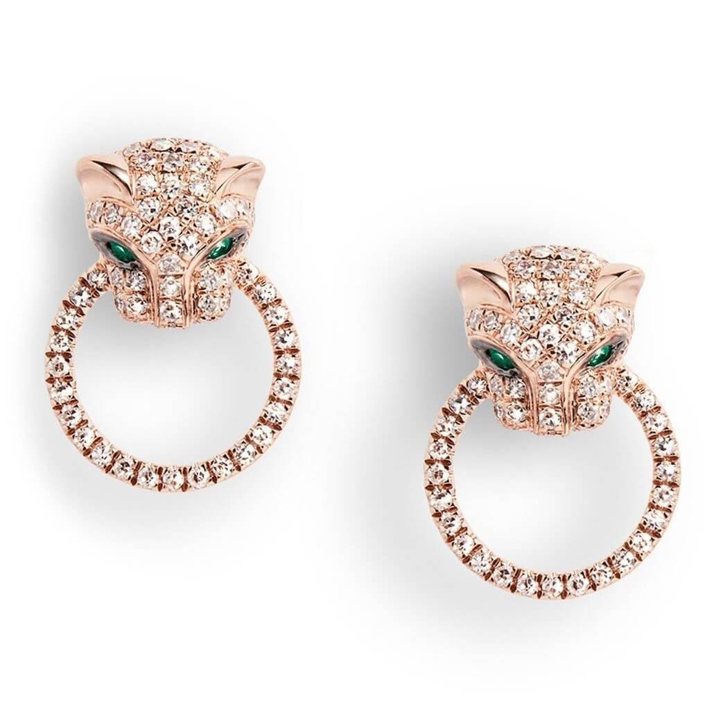 Diamond Jaguar Earri...