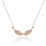 Angelique Wings diamond necklace 18K solid rose Gold
