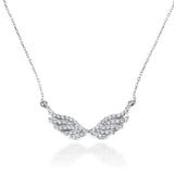 Angelique Wings diamond necklace 18K solid white Gold