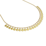 14K Pure Gold (5g). Simple but you cannot miss it, this is a solid gold necklace that is easy to wear and is a staple in every girl's jewellery box. Available to order in Rose, White and Yellow gold. Chain is adjustable to 16, 18 and 20in (40, 45 and 50 cm).