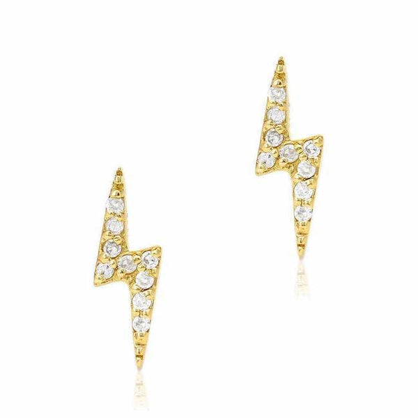 Diamond Storm earrings, 18k Solid Gold