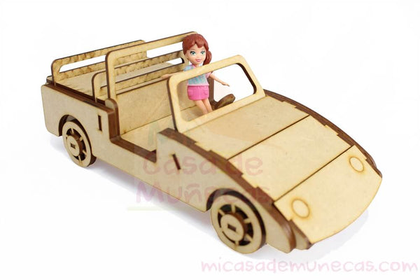 Auto para muñecas Polly Pocket o similares
