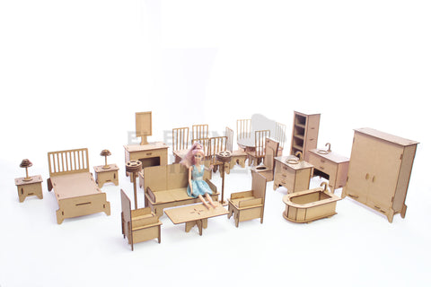 kit muebles para munecas barbies