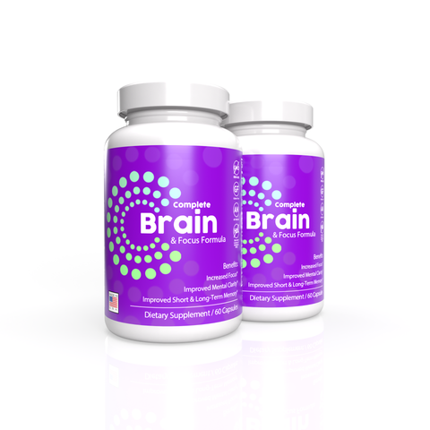 2x Complete Brain and Focus Formula (New Label Design, Same Great Product!)