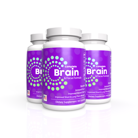 3x Complete Brain and Focus Formula