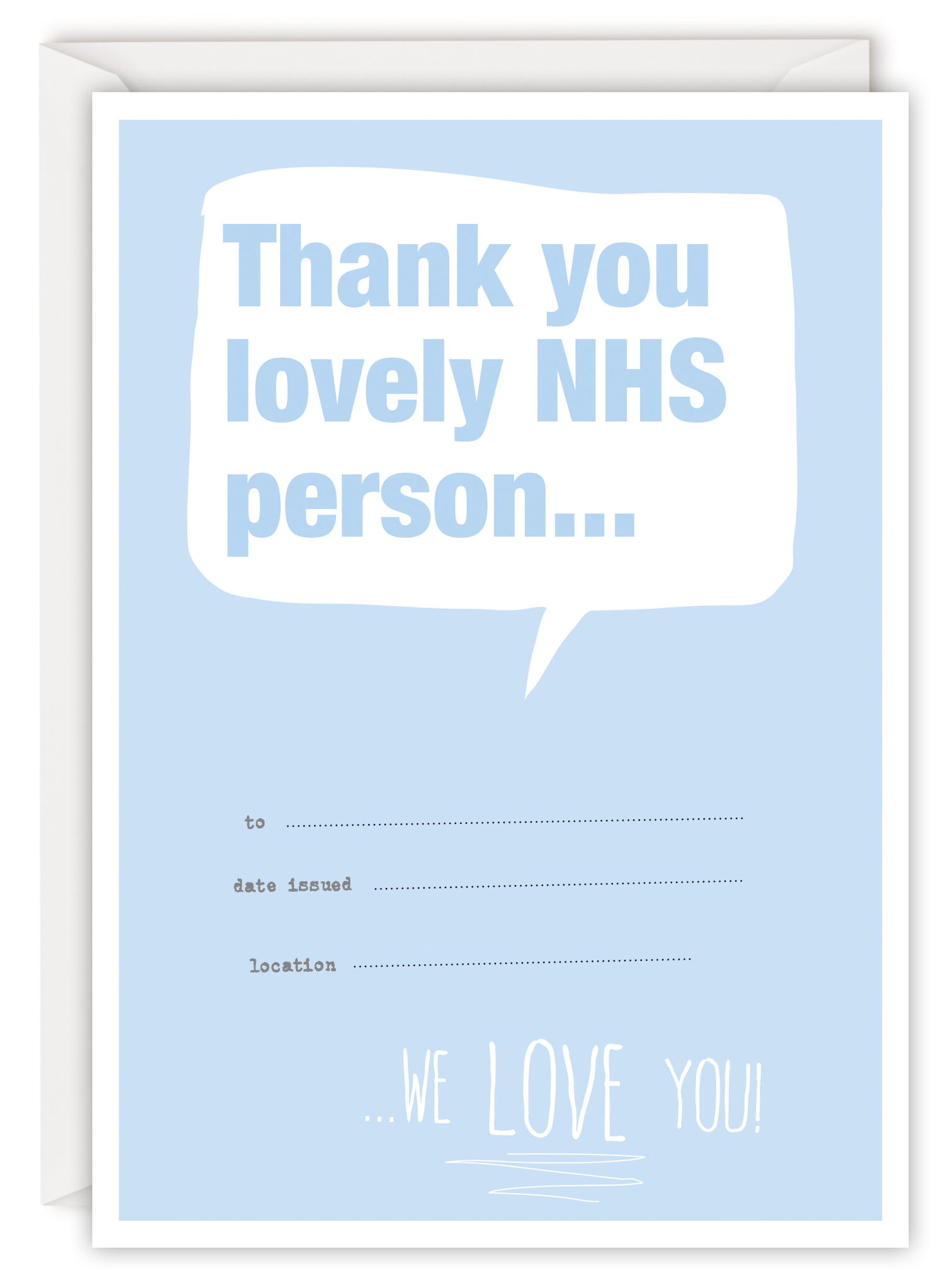 Thank you lovely NHS person...