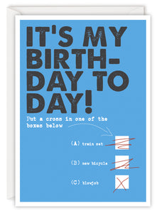 It's my birthday today!