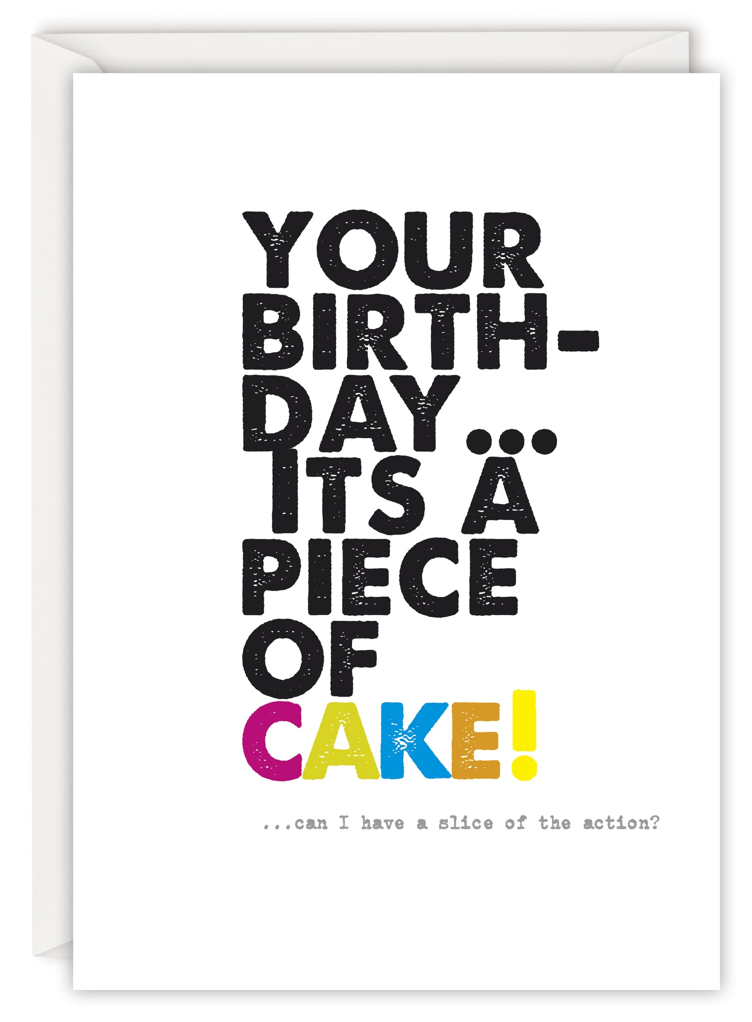 Your birthday… it's a piece of cake!