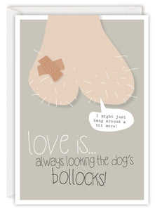 Love is… always looking the dog's bollocks!