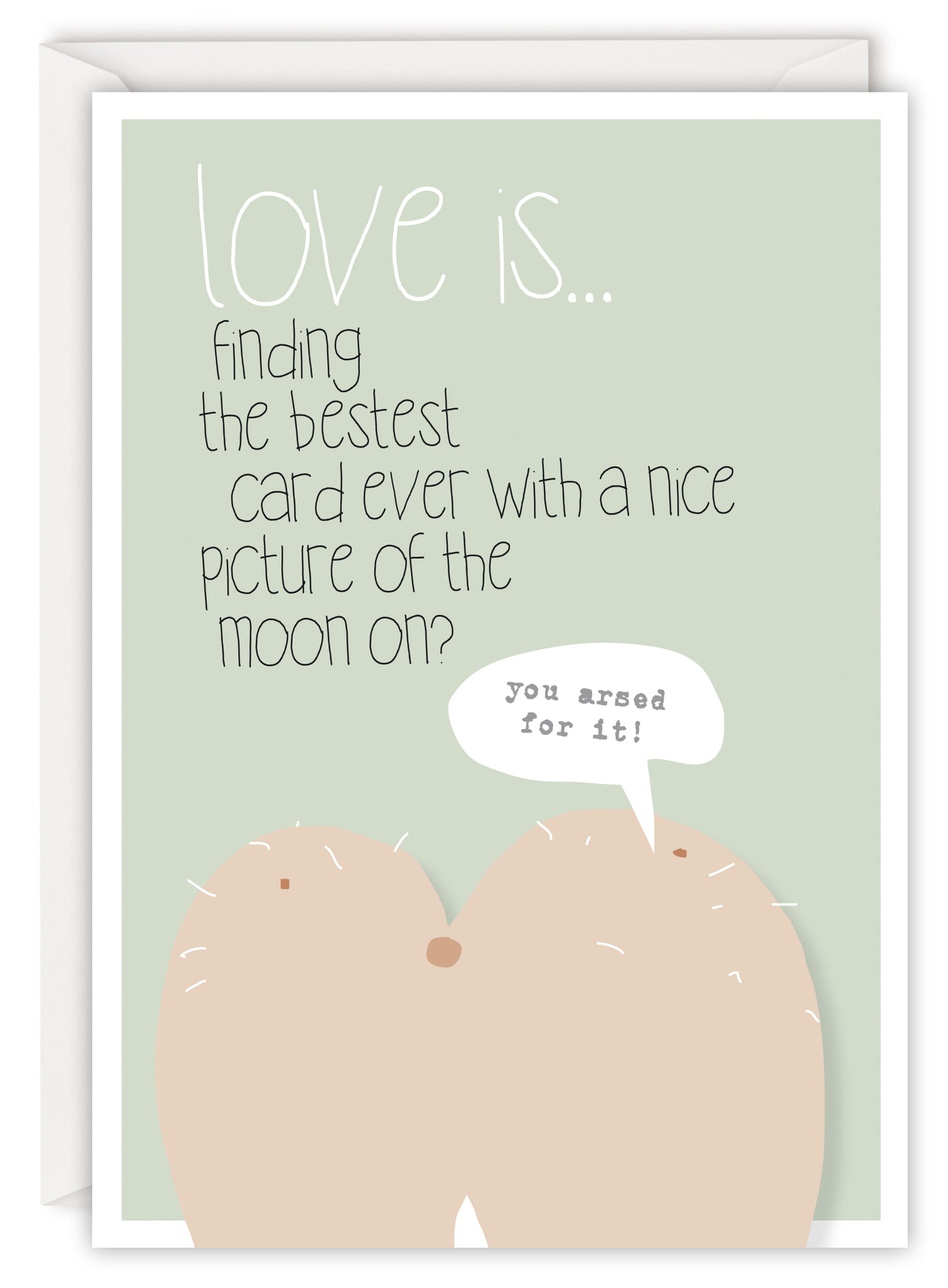 Love is… finding the bestest card ever with a nice picture of a moon on?