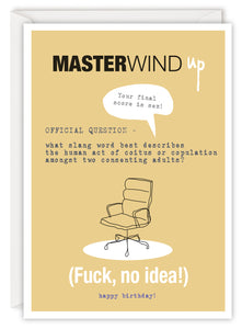 MASTERWIND up (Fuck, no idea!)