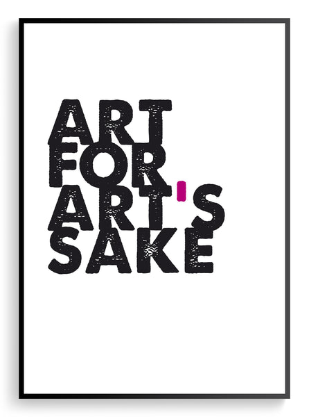Art for art's sake / Print
