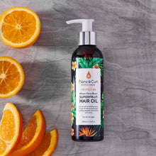 Load image into Gallery viewer, FLORA & CURL African Citrus Superfruit Hair Oil (200ml)