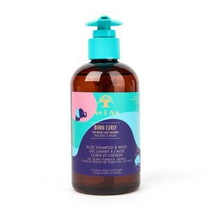 Born Curly Aloe Shampoo & Wash 8fl.oz