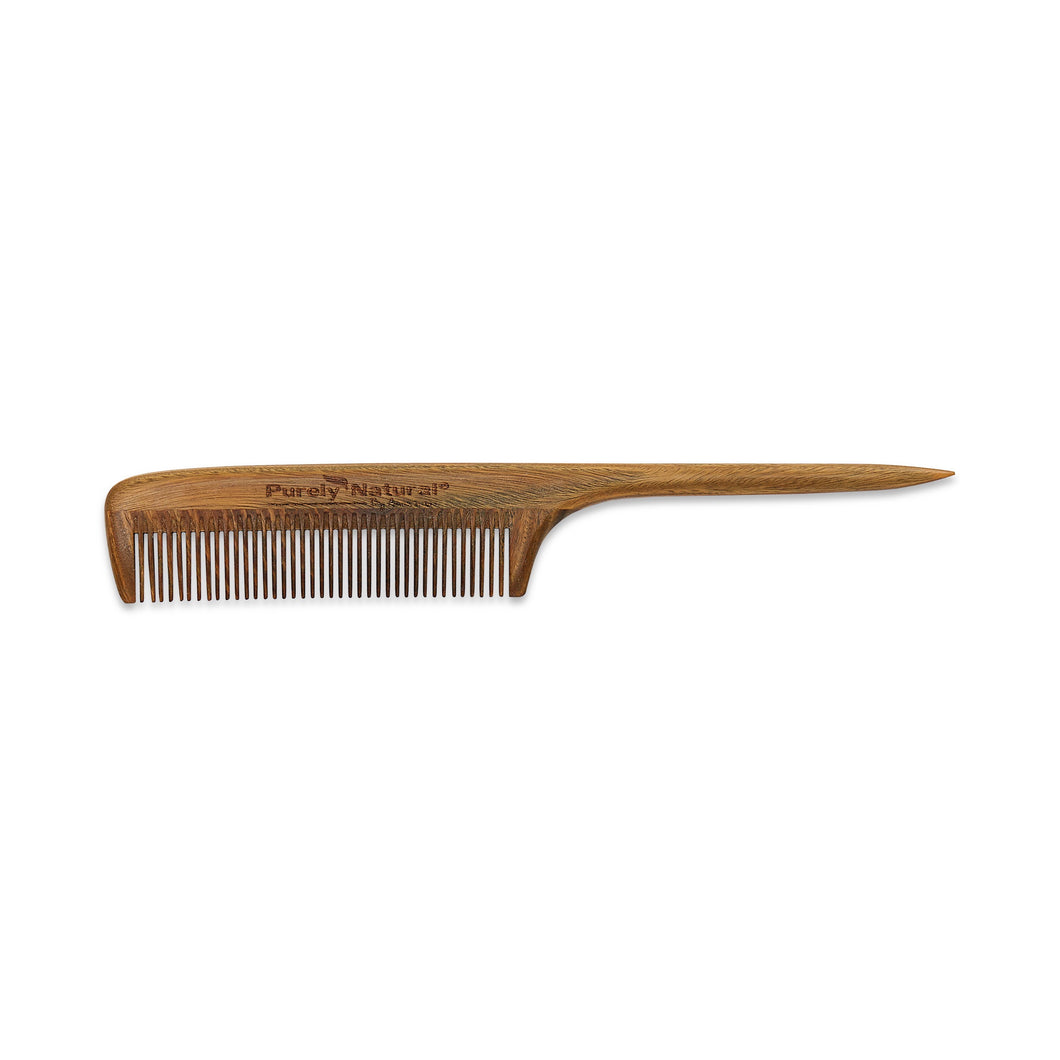HAND CRAFTED SANDALWOOD Rat Tail Comb