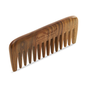 HAND CRAFTED SANDALWOOD - Wide Tooth Comb