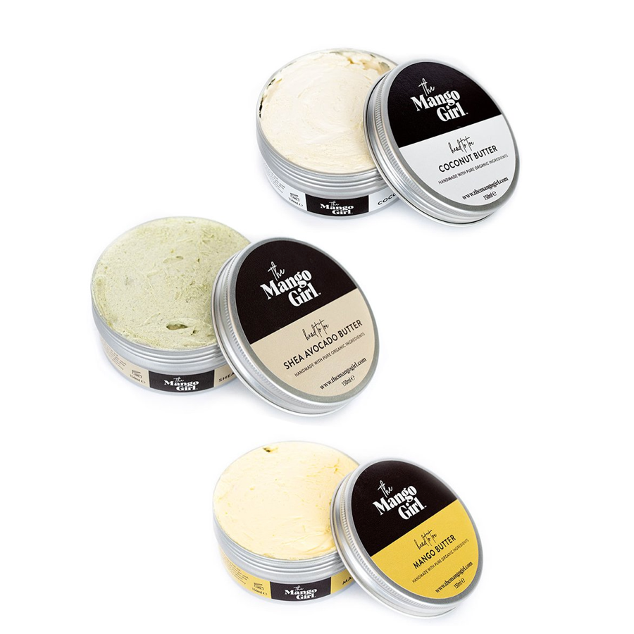 THE MANGO GIRL WHIPPED MANGO COCONUT SHEA AVOCADO BUTTER BUNDLE-450ML