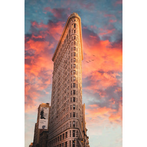 New York sunset over the flatiron building