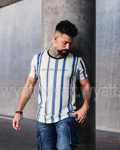 LONGFIT STRIPES BLUE