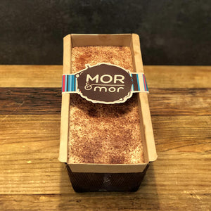 Image of the Tiramisu Log in cardboard packaging