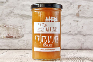 Confiture artisanale 3 Fruits Jaunes
