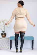 Load image into Gallery viewer, All This Cargo Skirt Set - Cream