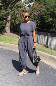 Over The Hills Grey Jumpsuit