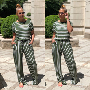 In Between These Stripes Jumpsuit