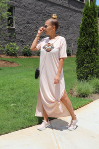 Blush Lips Maxi Dress