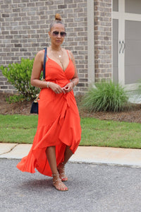 Orange Bliss Ruffle Dress