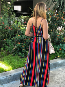 All In These Stripes Maxi Dress