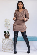 Load image into Gallery viewer, All This Cargo Skirt Set - Brown