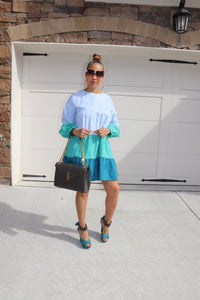 Colors On The Block Dress - Jade