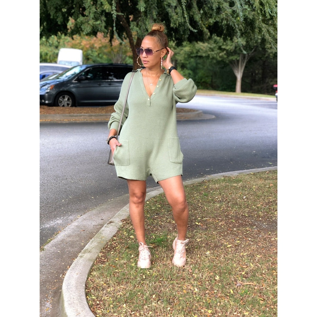 Keep It Moving Romper - Mint