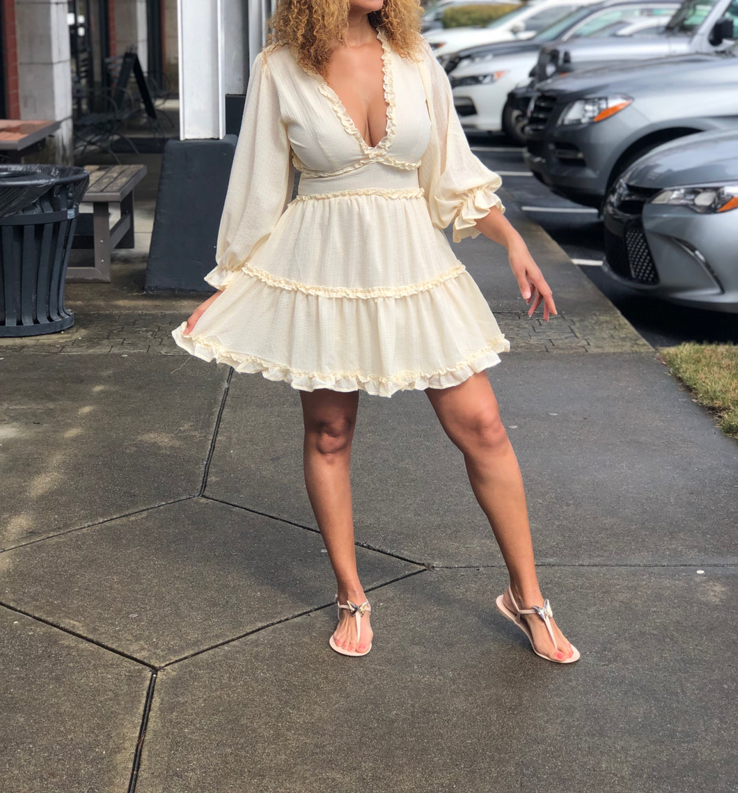 Creamsicle Ruffle Dress
