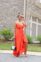 Load image into Gallery viewer, Orange Bliss Ruffle Dress