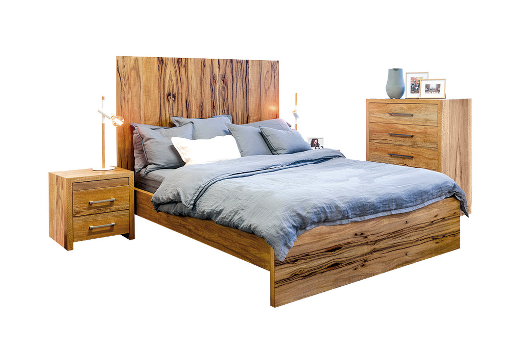 Solid Timber Wood Bedroom Suites Furniture King Queen Single Beds, Chest of Drawers, Chests, Bedside Tables Made in Perth WA Bespoke
