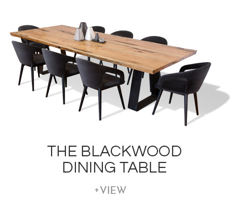Blackwood Marri Timber Wood Dining Table Industrial Iron Steel Base Nedlands Perth WA