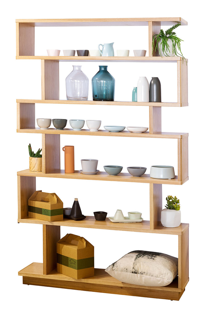 Marri American Oak Timber Wood Custom Shelving Unit Made in Perth WA Bespoke Furniture Gallery Tall Option