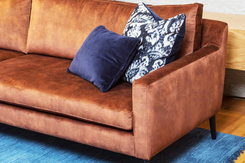 Angelo Fabric Leather Velvet Sofa Lounge 4 Seater Custom Perth WA Bespoke Furniture Gallery