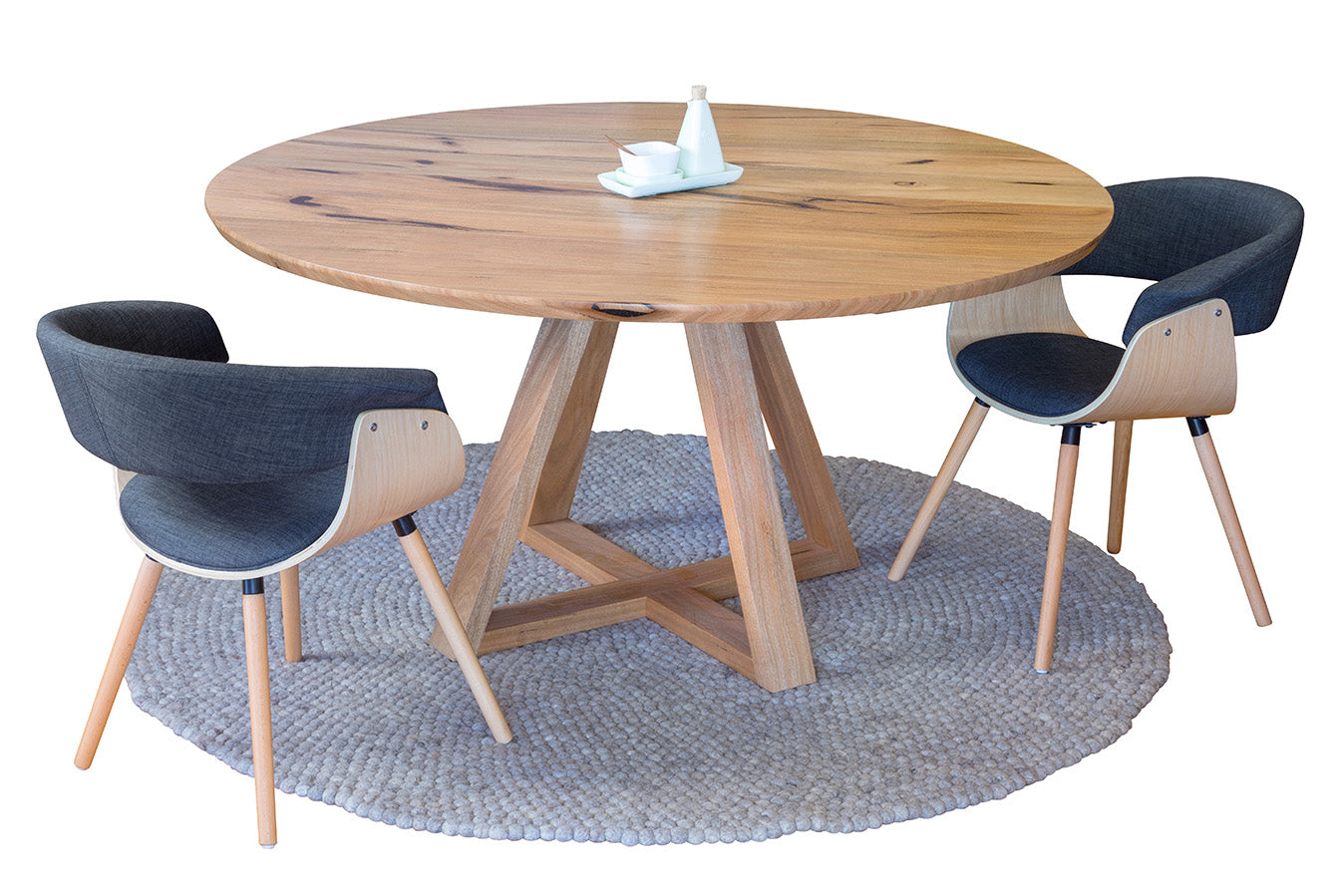 Yallingup Marri Or Jarrah Contemporary Round Dining Table