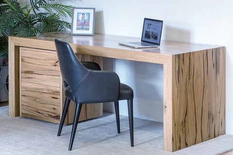 Mondo Minimalist Marri Desk with Filing Trundle