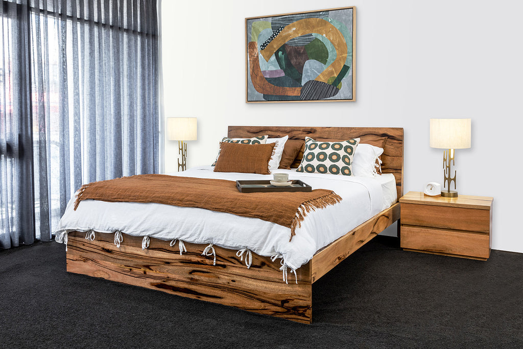 Boranup king bed solid Marri timber WA custom made bespoke locally made Perth Australia wide delivery bedroom