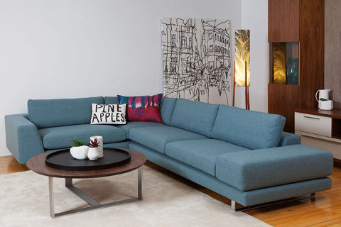 Colebatch Contemporary Custom Modular Fabric or Leather Sofa