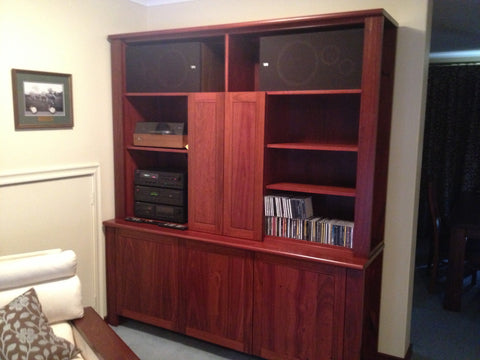 Bespoke Fully Custom Jarrah Home Office Wall Unit Furniture Perth WA